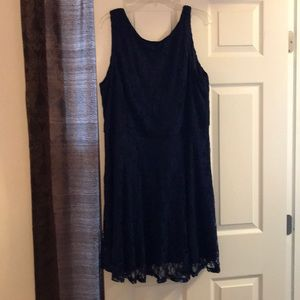Navy Blue lacy dress